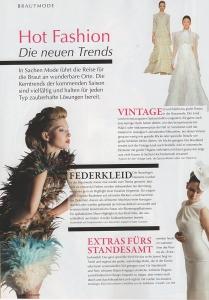 Magazin Hochzeit Ausgabe 5/2013 über Alexander Kappen Haute Couture