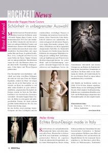Alexander Kappen Haute Couture, Neue Kollektionen 2014